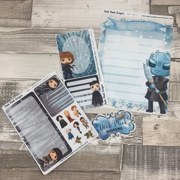 Erin Condren Month Note Pages (Winter is coming)