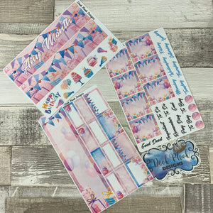 Birthday Month Monthly View Kit for the Erin Condren Planners