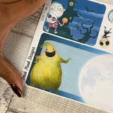 Erin Condren Month Dashboard Note Pages (Nightmare before)