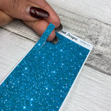 Passion Planner Hour Cover up / Washi strip stickers (Blue Glitter DPDW-17)