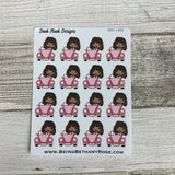 Black Woman - Car Road Trip Stickers (DPD1402)