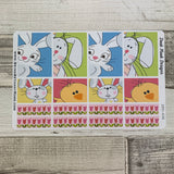 Easter cartoon box stickers for Erin Condren Vertical (DPD438)