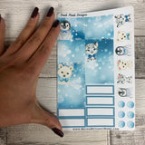 January (can change month) winter animal Monthly View Kit for the Passion Planner