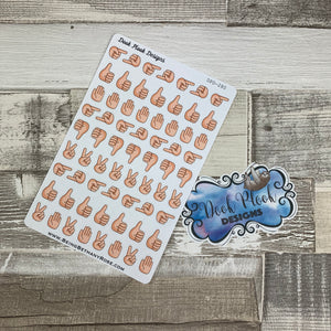Mixed hand signal stickers (DPD280)
