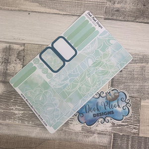 (0016) Passion Planner Daily stickers - Mint reflections