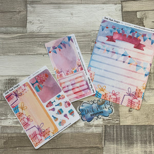 Erin Condren Month Note Pages (Birthday)