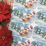 Personalised kids / adults Christmas Present Labels. (55 Sloth)