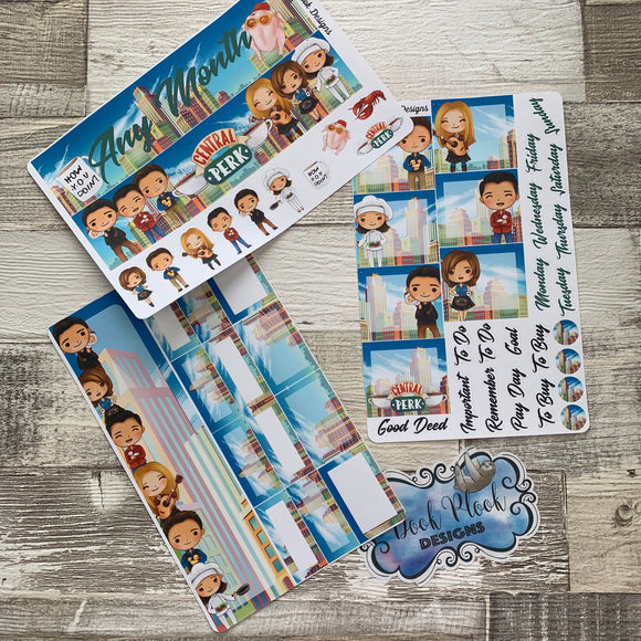 I'll be there for you (can change month) Monthly View Kit for the Erin Condren Planners