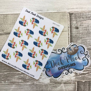 Tropical Surfing / Surf wave stickers (DPD1355)