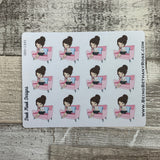 White Woman - Nail painting Stickers (DPD1445)