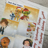 May the Force Xmas Monthly View Kit (can change month) for the Erin Condren Planners