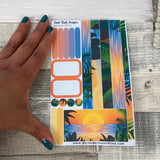(0072) Passion Planner Daily stickers - Sunset Vibes