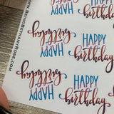 Happy Birthday lettering stickers (DPD1675)