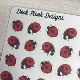 Ladybird / Lady bug stickers (DPD1083)