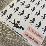 Pregnancy countdown stickers (DPD394)