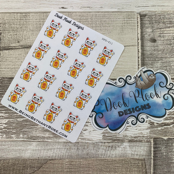 Lucky waving cat stickers (DPD411)