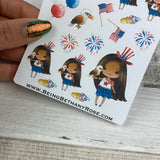 American Girl July 4th stickers (DPD1457)