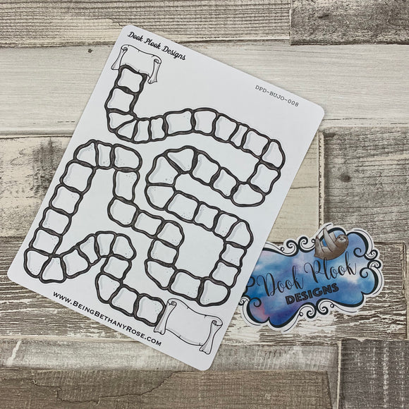 Path Bullet Journal Style Tracker sticker (DPD008)