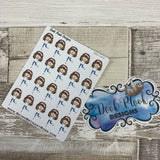White Woman - Happy / Cheer Stickers (DPD1414)
