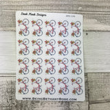 Water colour bicycle stickers (DPD194)