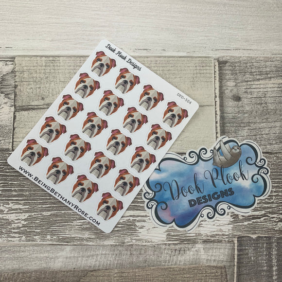 Bulldog stickers  (DPD504)