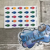 Fairy / Christmas Lights stickers (Small Sampler Size) A721