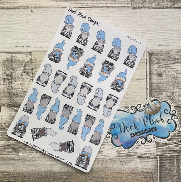 Blue Zebra Gonk Character Stickers Mixed (DPD-2114)
