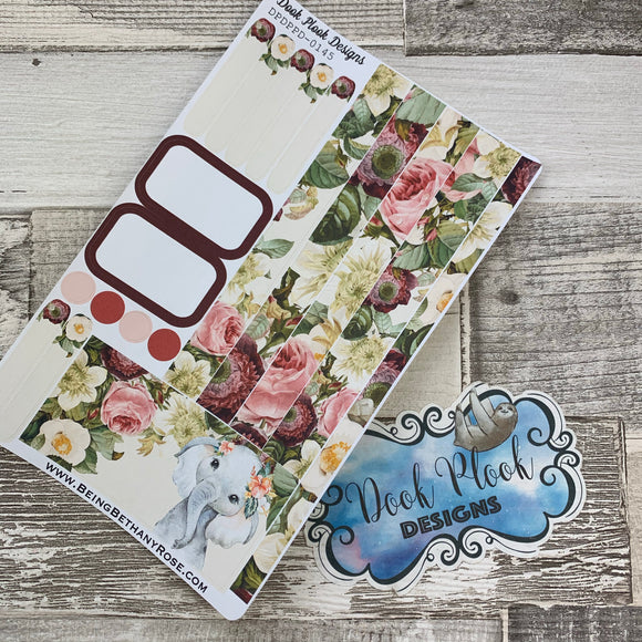 (0145) Passion Planner Daily stickers - Elephant Watercolour