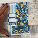 (0101) Passion Planner Daily stickers - Blue Floral