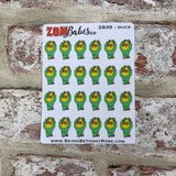 Rubber Duck Zombabe character sticker for planners (ZB39)