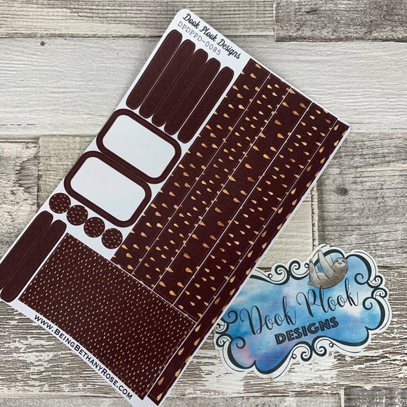 (0085) Passion Planner Daily stickers - Chocolate