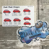 Car MOT / TAX stickers - Red Small Sampler Size (A71a)
