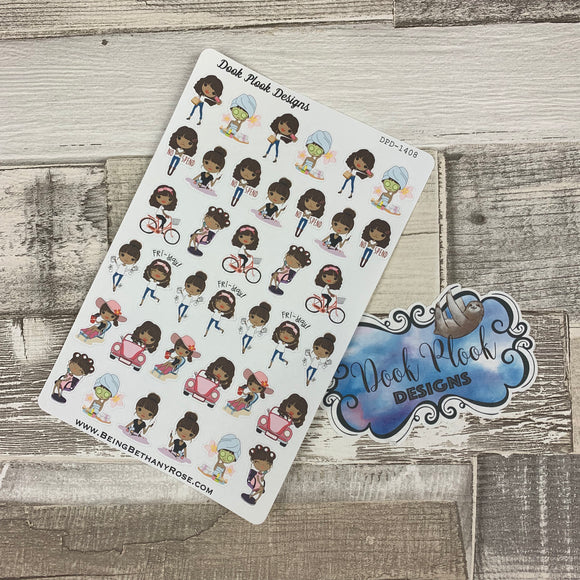 Mixed character Black Woman Stickers (DPD1408)