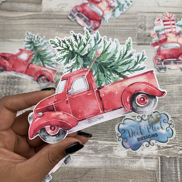 Red Truck Christmas Die cut