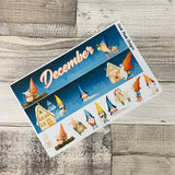 Yuletide (can change month) Monthly View Kit for the Erin Condren Planners