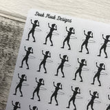 Hula hooping stickers (DPD713)