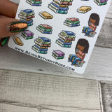 Reading Book stickers (Black Woman) (DPD583)