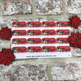 Personalised kids / adults Christmas Present Labels. (21 Snowman)