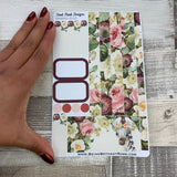 (0152) Passion Planner Daily stickers - Zebra Watercolour