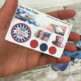 Independence Day stickers (Small Sampler Size) A745