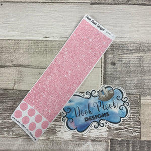 Passion Planner Hour Cover up / Washi strip stickers (Baby Pink Glitter DPDW-13)