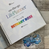 Personalised name stickers for planners (Matte, Gloss or Foil, 28 different colours) 0001-Double Take