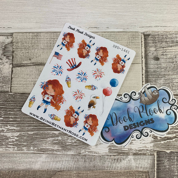 American Girl (Firework) stickers (DPD1461)