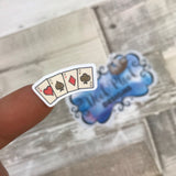 Cards / poker / gambling stickers (DPD1084)