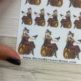 Pin up witch stickers (DPD1491)
