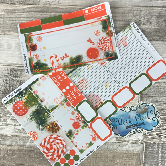 Candy Cane Passion Planner Week Kit (DPD1913)