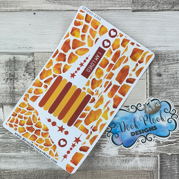 (0364) Passion Planner Daily Wave stickers - Giraffe