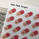Chill Pill stickers (DPD865)