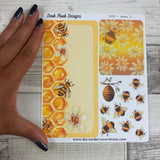 Erin Condren Month Note Pages (Bees)
