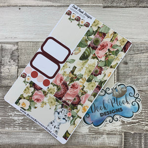 (0150) Passion Planner Daily stickers - Snow Leopard Watercolour